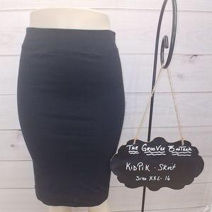 XXL (16) Kids Black & Navy Skirt - New